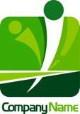 людской квадрат логоса Стоковое Фото