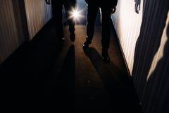 2 люд идут совместно Стоковая Фотография RF