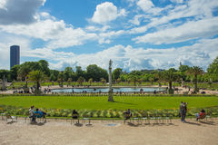 Люксембургский сад (Jardin du Люксембург) в Париже Стоковое Фото