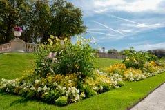 Люксембург садовничает деталь, Париж, Франция стоковое фото rf