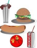 люкс иллюстрация еды из закусочных Стоковое Фото