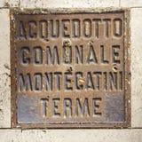 Люк утюга Montecatini Terme Стоковая Фотография