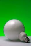 Люминесцентная лампа: Зеленая энергия Стоковое фото RF