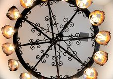 Люстра на музее металла Мемфиса орнаментальном, Мемфис Теннесси Стоковые Изображения