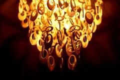 Люстра освещенная на ноче Стоковое Фото