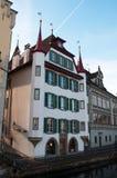 Люцерн, столица кантона Люцерна, центральной Швейцарии, Европы Стоковое Изображение RF
