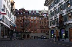 Люцерн, столица кантона Люцерна, центральной Швейцарии, Европы Стоковая Фотография RF