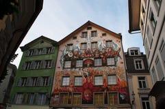 Люцерн, столица кантона Люцерна, центральной Швейцарии, Европы Стоковое Изображение