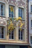 Люцерн, Швейцария - 19-ое октября 2017: Красивое острословие знака шнурка Стоковое Изображение