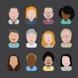Людей общины разнообразия концепция значков дизайна межрасовых плоская Стоковая Фотография RF