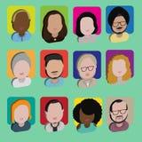 Людей общины разнообразия концепция значков дизайна межрасовых плоская Стоковое фото RF