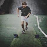 Людей тренировки Sportman концепция идущих мужских здоровая Стоковое Изображение
