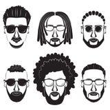 Люди битников бородатые африканские Стоковая Фотография