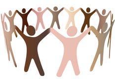 люди бленды разнообразные людские звенят skintones Стоковые Фотографии RF