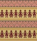 Люди вводят безшовным картину в моду связанную цветом Стоковое Фото