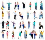 Люди взгляда собрания задние Стоковые Фото