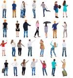 Люди взгляда собрания задние Стоковая Фотография RF