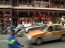Люди, движение и архитектура города Шанхая сток-видео