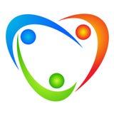 люди влюбленности логоса Стоковое фото RF