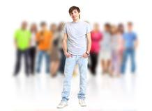 люди вскользь группы счастливые Стоковое Изображение