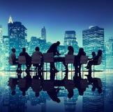 Люди встречая концепции городского пейзажа дела Стоковые Фотографии RF