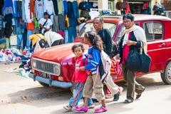 Люди в АНТАНАНАРИВУ, МАДАГАСКАРЕ Стоковая Фотография