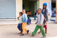 Люди в АНТАНАНАРИВУ, МАДАГАСКАРЕ Стоковые Фотографии RF