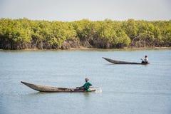 Люди в БАНЖУЛЕ, ГАМБИИ Стоковое Фото