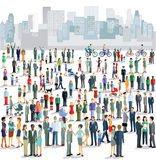 Люди в городе Стоковое Изображение