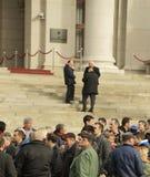 Люди в забастовке Стоковые Изображения RF