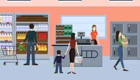 Люди в магазине Стоковое Фото