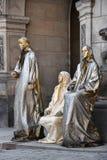 Люди в маске Венеции золота Стоковая Фотография RF