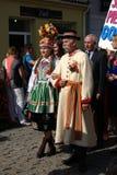Люди в национальных костюмах Стоковые Фото
