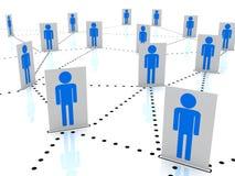 Люди в социальной карте сети Стоковая Фотография