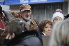 Люди в улице Стоковая Фотография