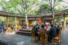 Люди в фарфоре Шанхая парка gucheng стоковые изображения rf