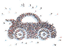 Люди в форме автомобиля Стоковые Фото