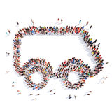 Люди в форме автомобиля Стоковые Изображения RF