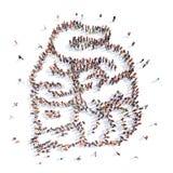 Люди в форме внутренних органов, малых стоковое изображение