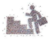 Люди в форме человека Стоковые Фото