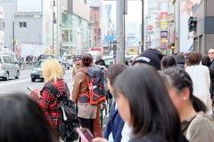 Люди в Harajuku Стоковые Изображения