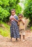 Люди в LALIBELA, ЭФИОПИЯ Стоковое фото RF