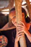 Люди в OMO, ЭФИОПИЯ Стоковая Фотография