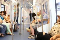 Люди в Skytrain стоковое изображение