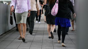 Люди Гонконга на занятый день видеоматериал