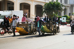 люди граници камбоджийские тайские Стоковые Изображения
