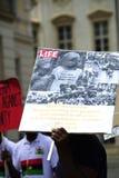 Люди демонстрации-Indigenious Биафры Стоковая Фотография