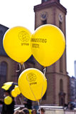 Люди демонстрируют для выключать немецкую ядерную энергию pl Стоковые Фотографии RF