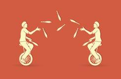 Люди жонглируя штырями пока задействующ совместно Стоковые Фото