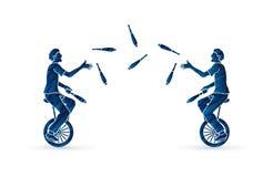 Люди жонглируя штырями пока задействующ совместно Стоковая Фотография